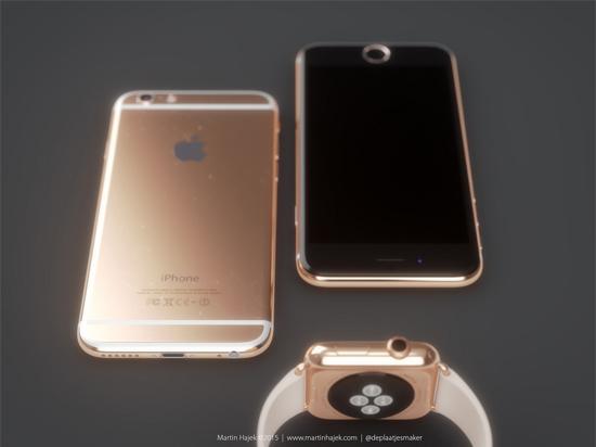 比AppleWatch更壕,玫瑰金色iPhone 6s设计概念赏