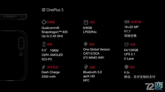 一加5公布 市場價2999元起!8G運行內存 驍龍835 較貴的便是最好是的?