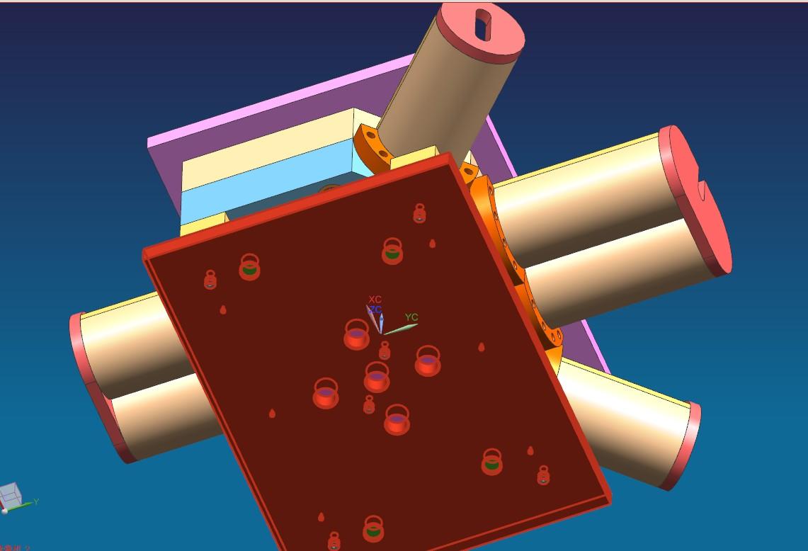 三通管件模具3D模型 UG(NX)设计