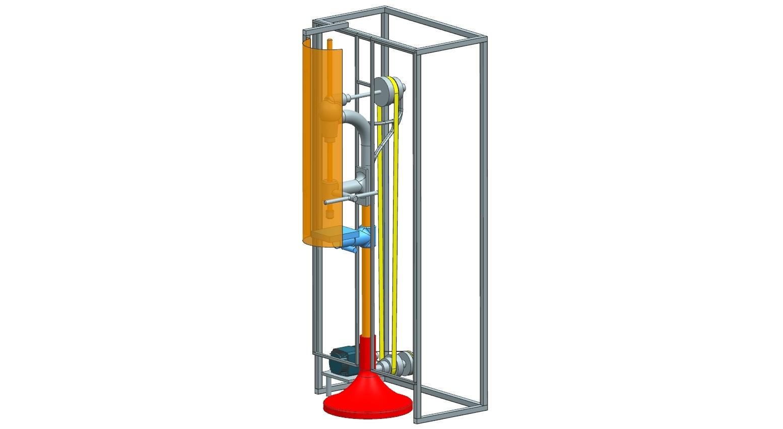 径向钻孔机模型3D图纸 STP格式