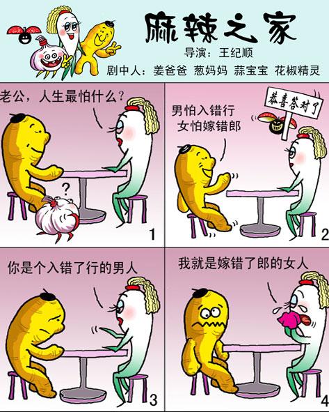 天天漫画网:漫画家王纪顺《幽默漫画---麻辣之家》