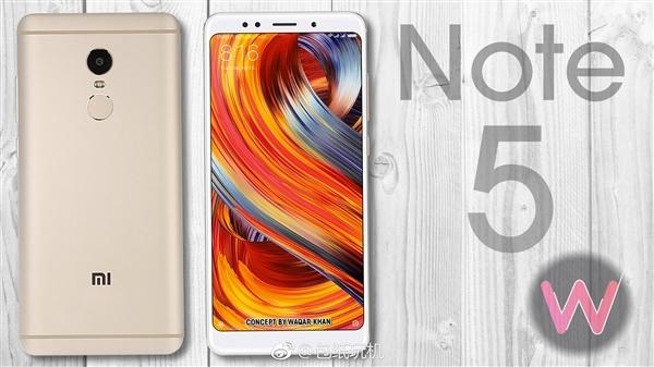 要火!红米noteNote 5总算来啦:5.99寸全面屏手机/4000mAh