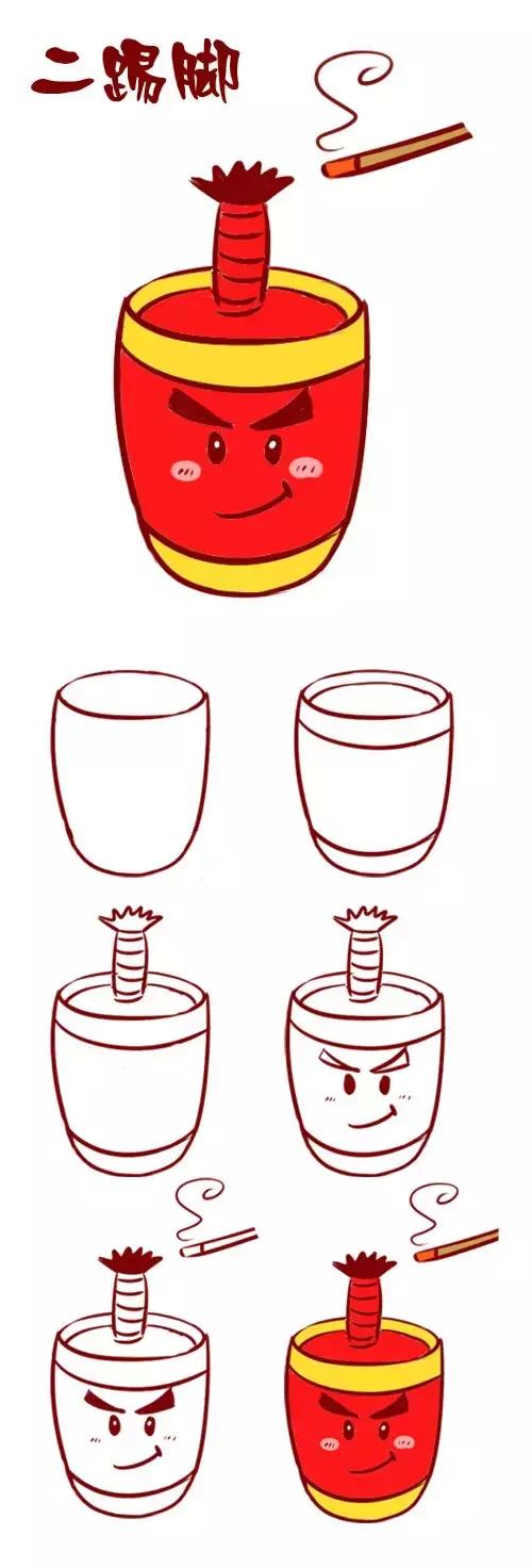 红色灯笼简笔画视频图文教程