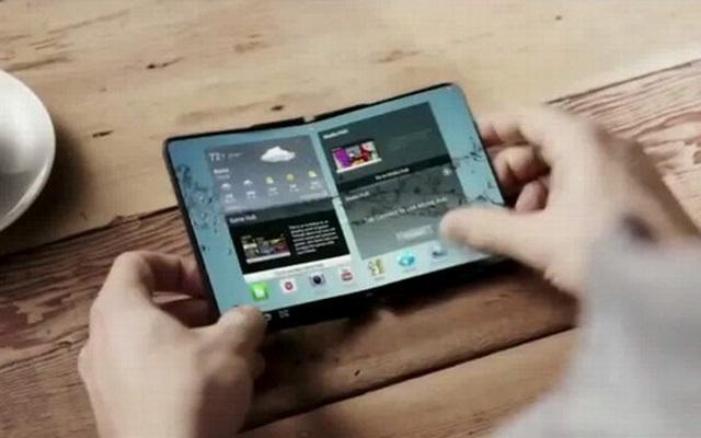 全球首款折叠屏幕手机:三星造
