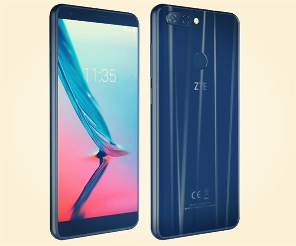 zte中兴国外发布18:9屏新手机Blade V9:骁龙450 4g运行内存