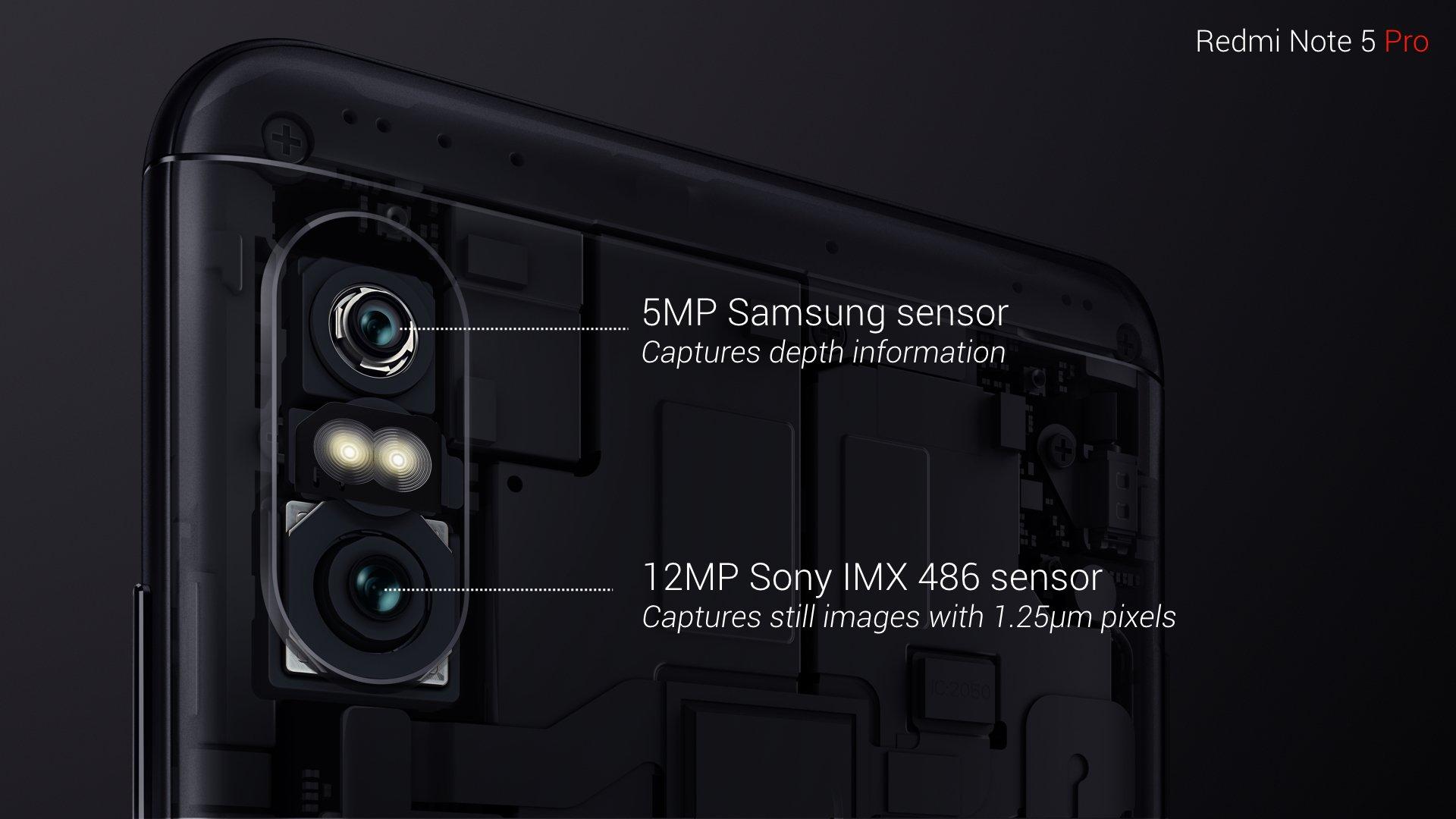 红米noteNote 5/Pro公布:先发骁龙636,配交通信号灯双摄像头