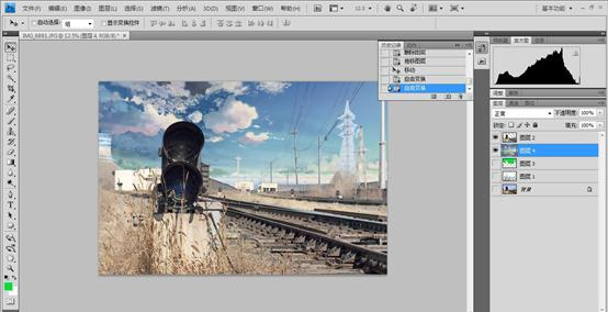 PS图文教程普通风景照片转为二次元动漫效果