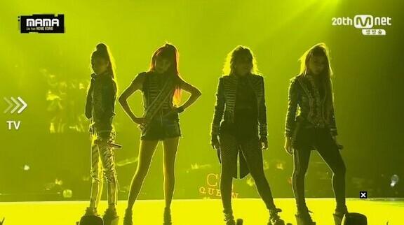 [2NE1][新闻]151202 2015MAMA舞台2NE1四人再度合体!