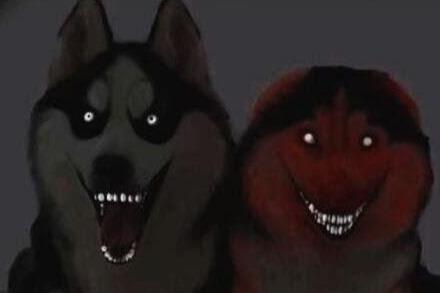 微笑狗图片原图恐怖 一张吓死三亿人的照片