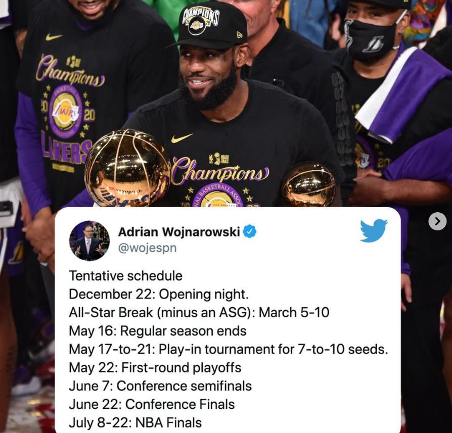 NBA下赛季时间线公布,3月5号全明星赛,7月总决赛