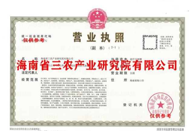 海南省 三农产业研究院公司