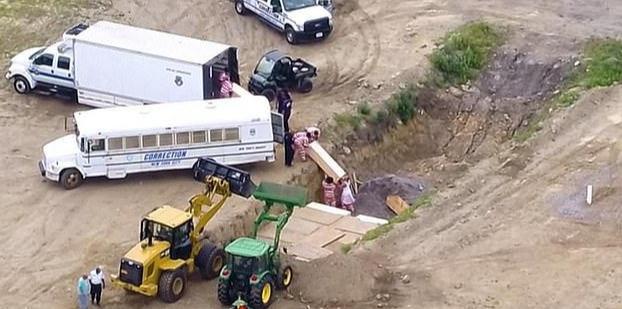 纽约应对疫情预案:若病死人数太多,将让囚犯挖万人乱葬坑埋尸