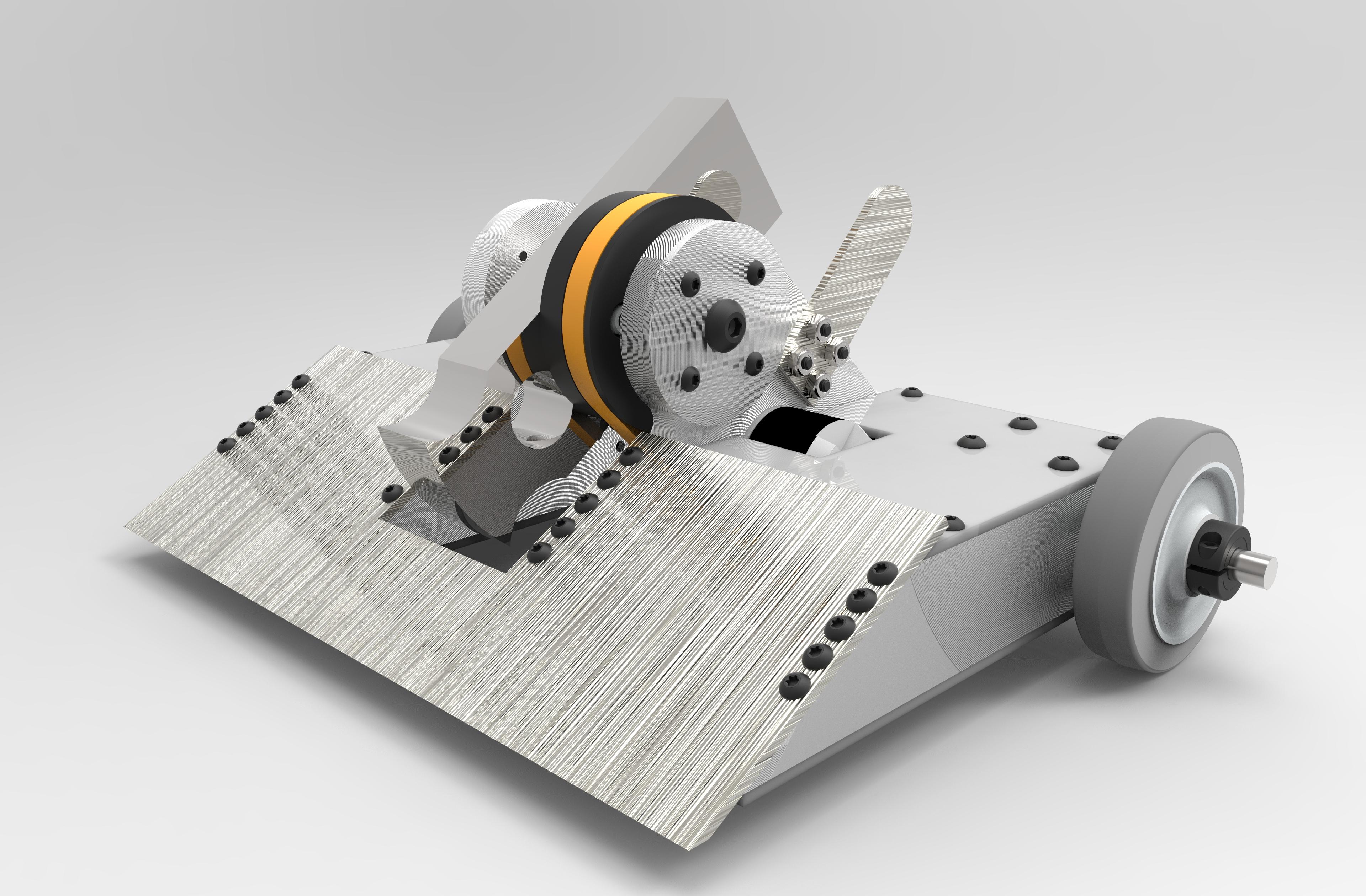 12LB UPPERCUT武术对战机器人车3D图纸 Solidworks设计 STEP IGS