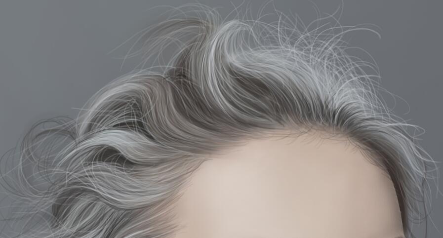 板绘头发怎么画出层次感和质感?保姆级零基础头发绘制思路