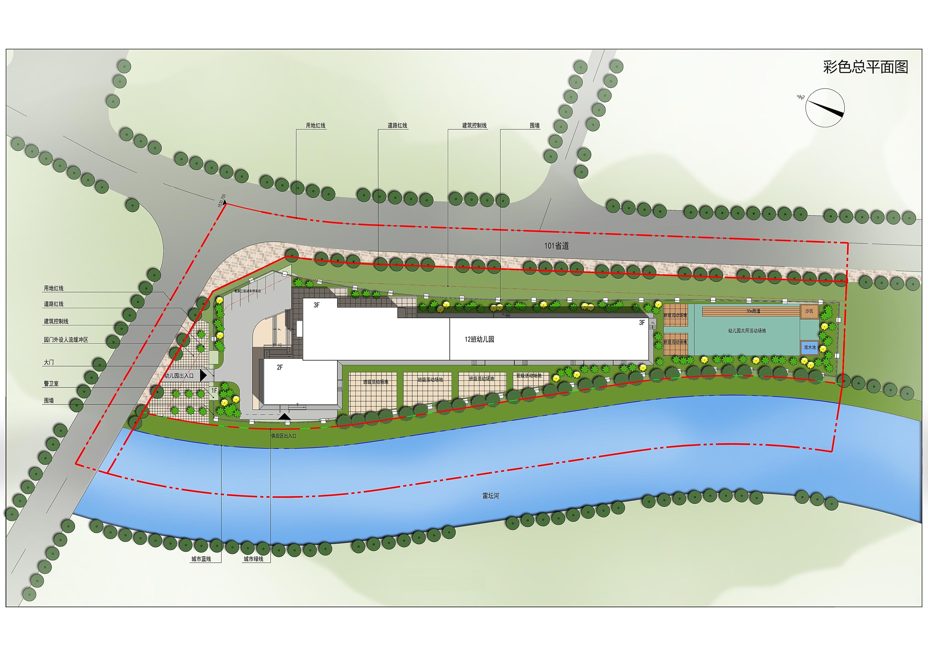 兰州七里河区将新建一所幼儿园,总平面图批前公示了