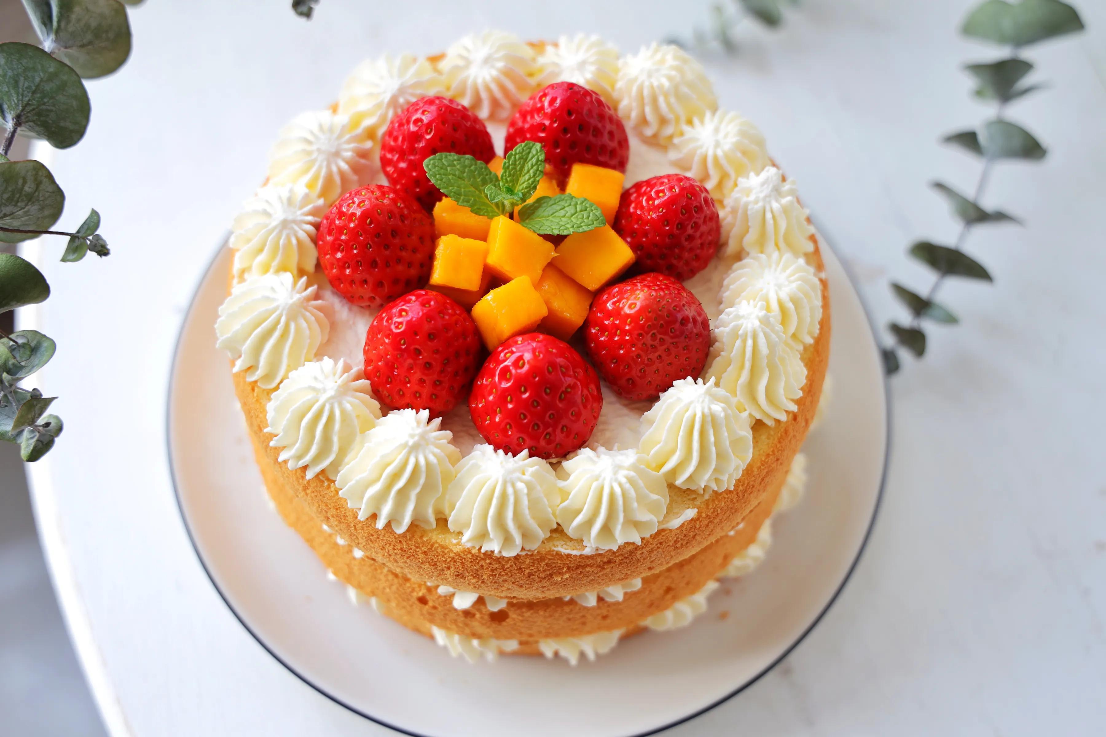 生日蛋糕別買了,教你在家做,不用抹面,簡單零失敗,健康又好吃