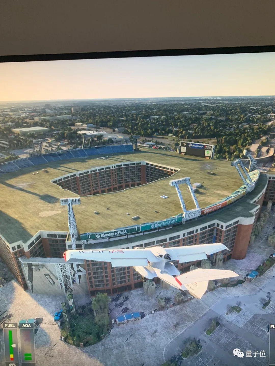 《微软飞行模拟》用AI还原15亿建筑,出现王宫变写字楼bug
