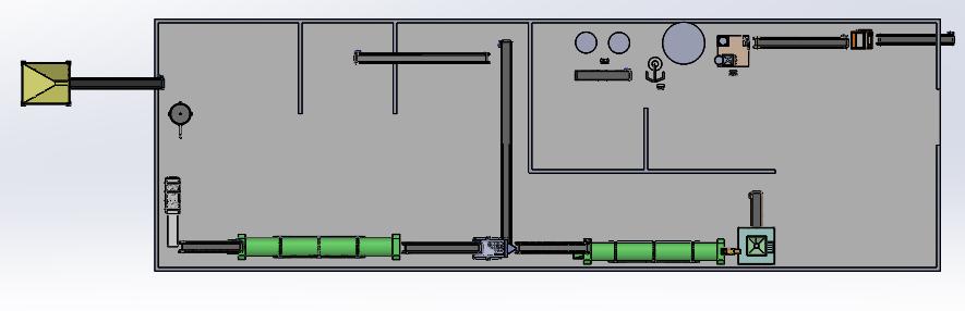gubre肥料厂分布图简易模型3D图纸 STEP格式