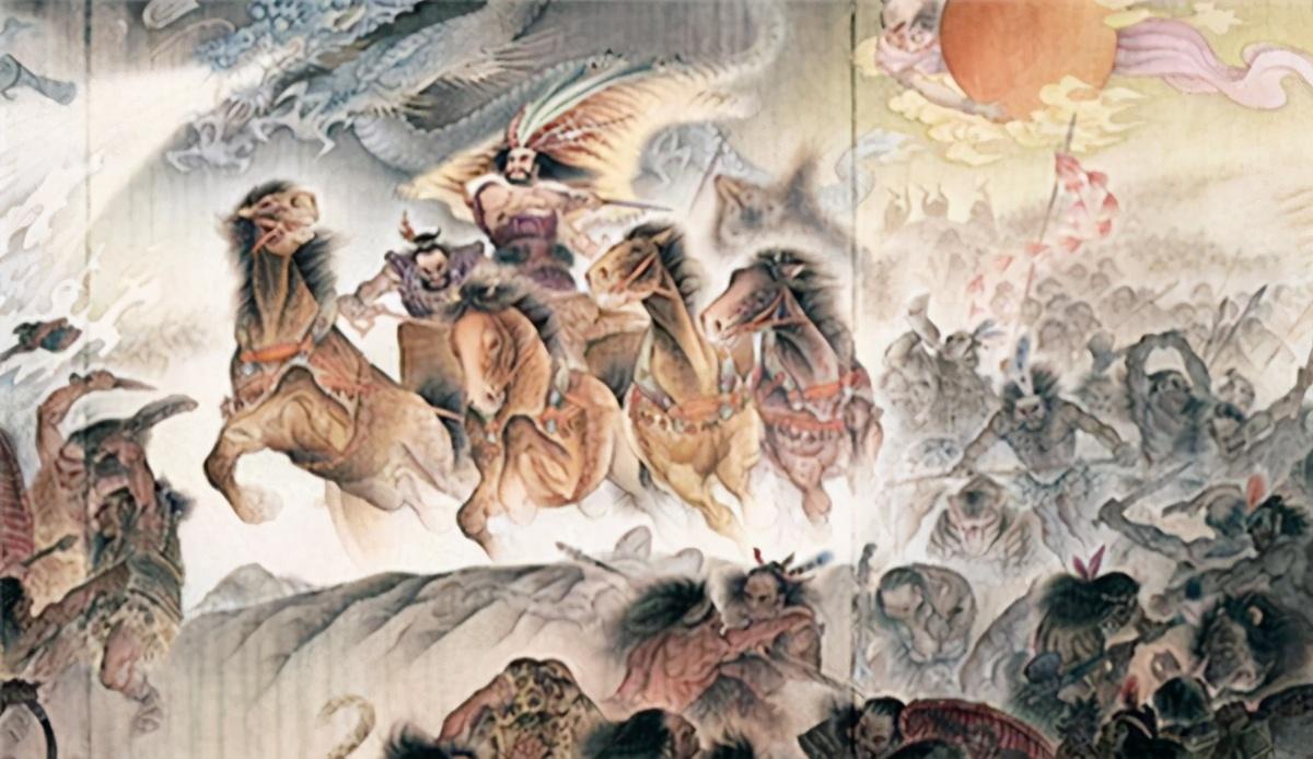 6500年前古墓挖出龙虎图,墓主脊柱被砍断,专家:可能是蚩尤
