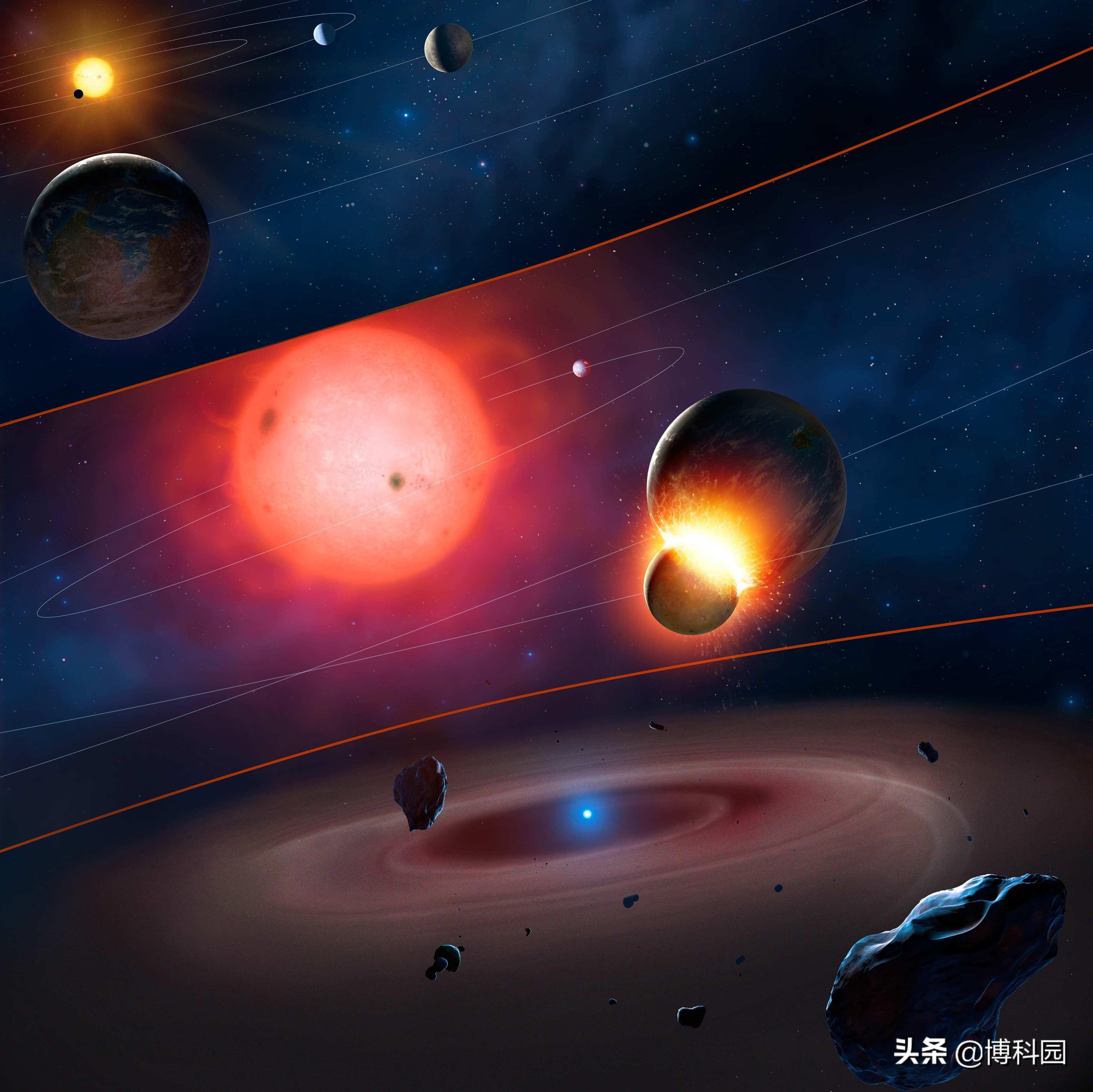 相距4.86亿千米的白矮星和红矮星产生的新日食灾变!