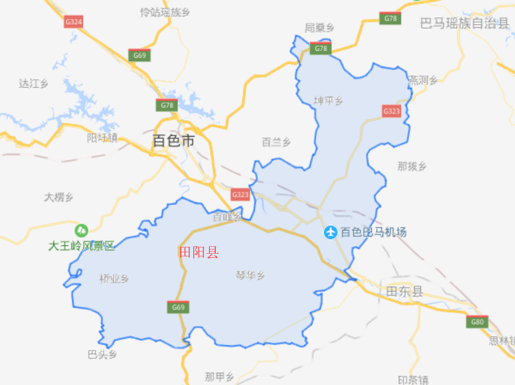 广西的一个县,人口超40万,由两个县合并而来