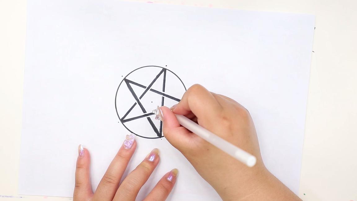 五芒星怎么画,尺规作图五角星