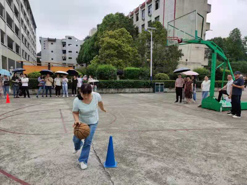 新邵职中工会:教工乐享趣味篮球赛