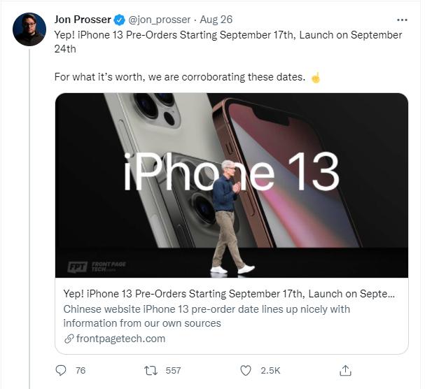 电商平台曝光 iPhone13 发售时间,AirPods 3 也要一起来了
