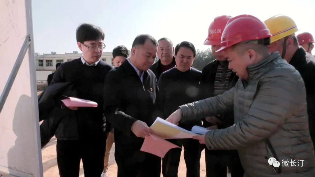长汀县委书记廖深洪调研省、市重点项目建设推进情况