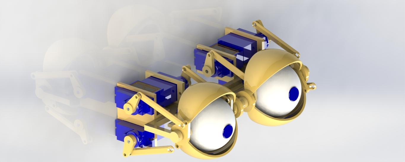 animatronic eyes仿生眼睛机构3D图纸 Solidworksy设计