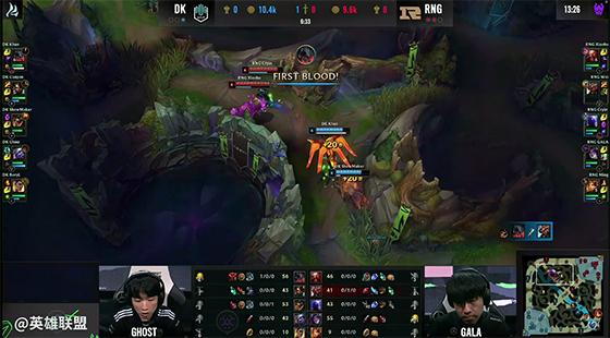 LOL-MSI:RNG前期节奏尽失,Ghost五杀小炮助DK将比赛拖入决胜局