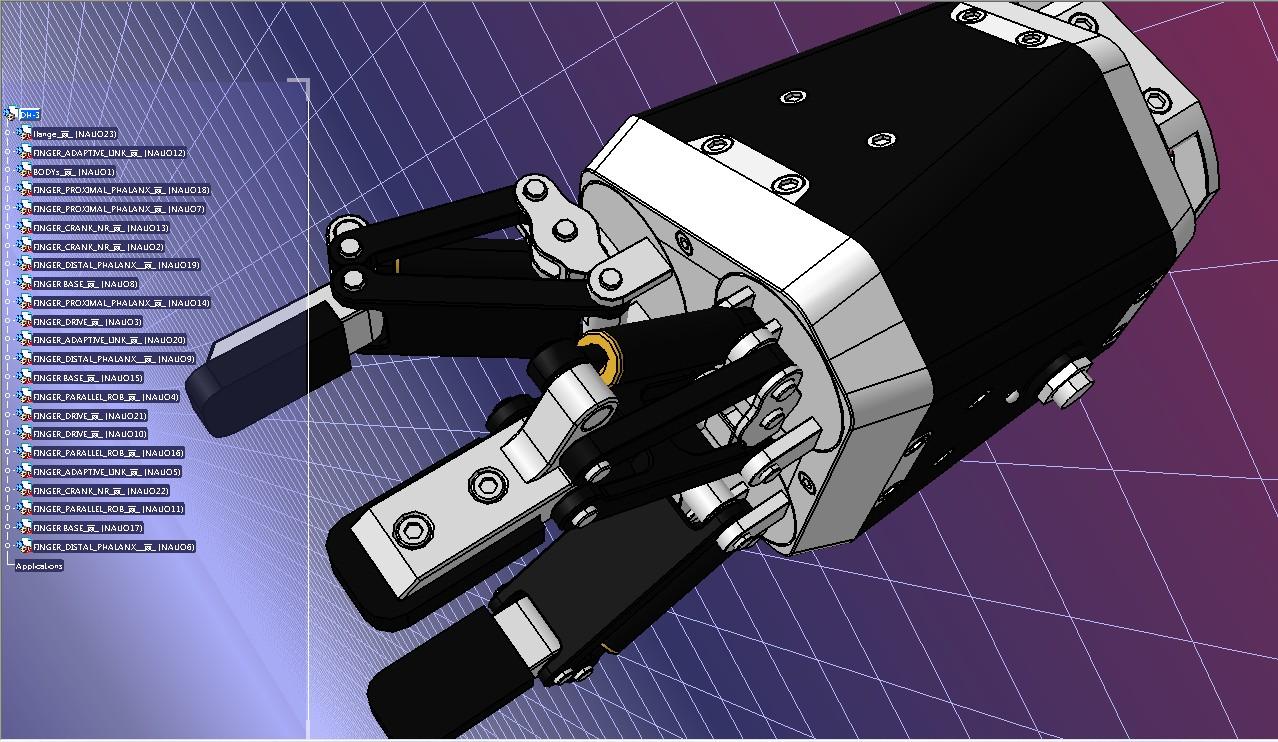 三指DH-3机械臂末端执行器3D图纸 STEP格式