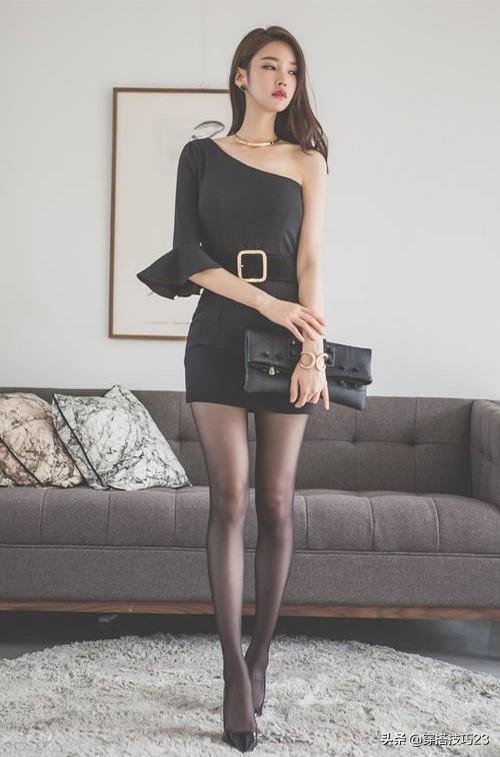 穿什么衣服可以搭配黑色丝袜 黑丝搭配包臀裙 完美展现性感大长腿