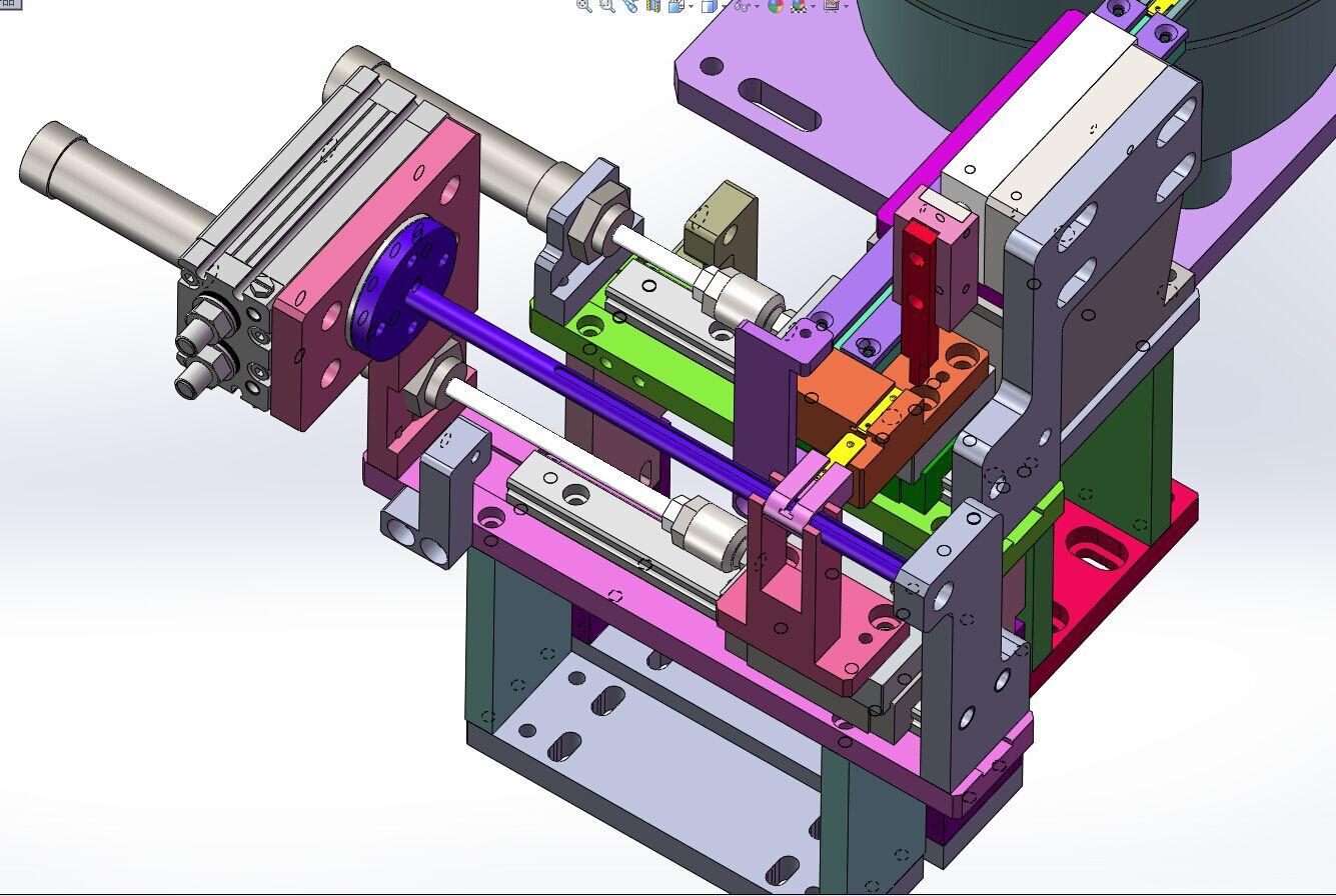 接地端子振动盘送料分料结构图3D模型图纸 Solidworks设计