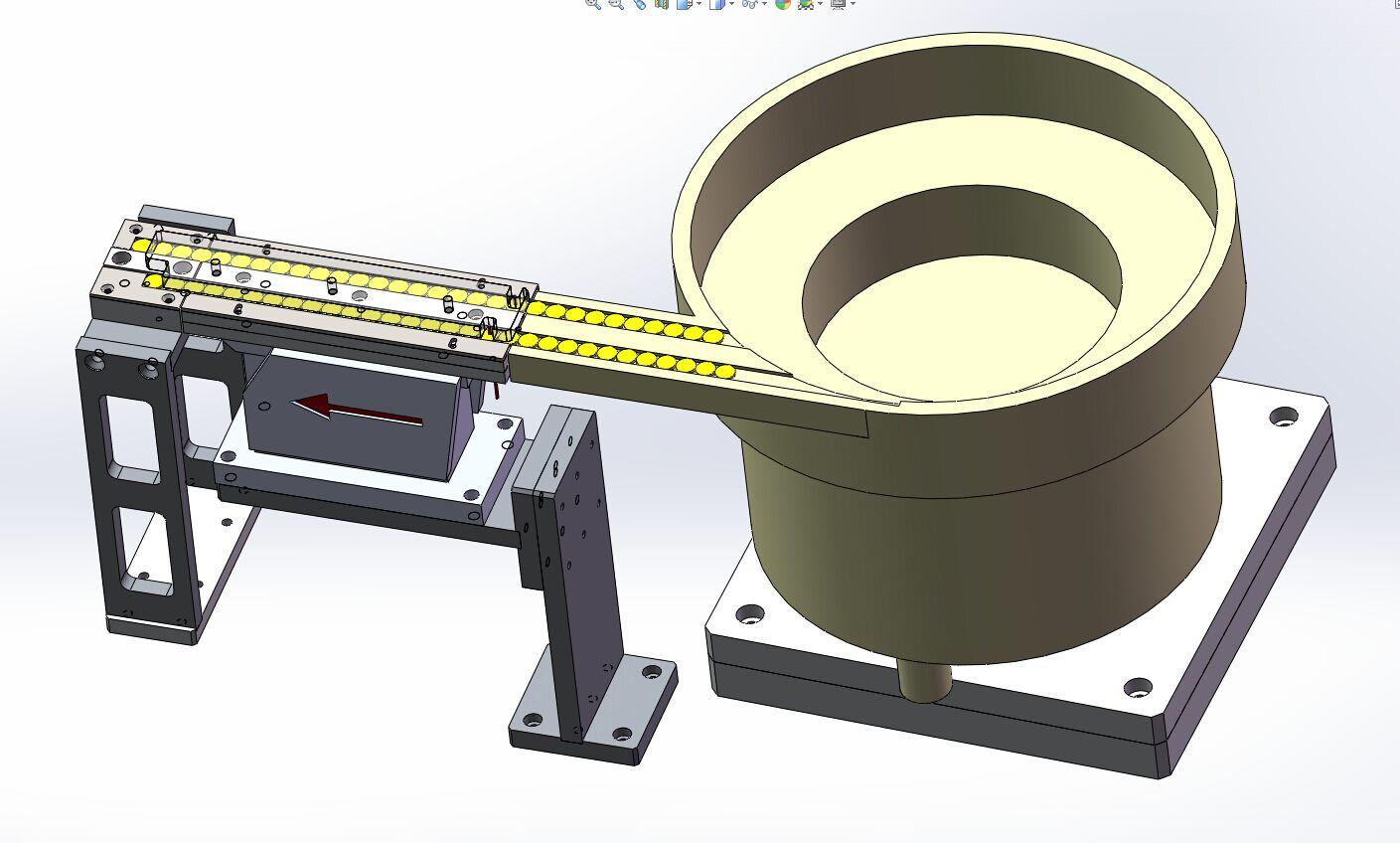 铅帽上盖振盘送料结构3D模型图纸 Solidworks设计
