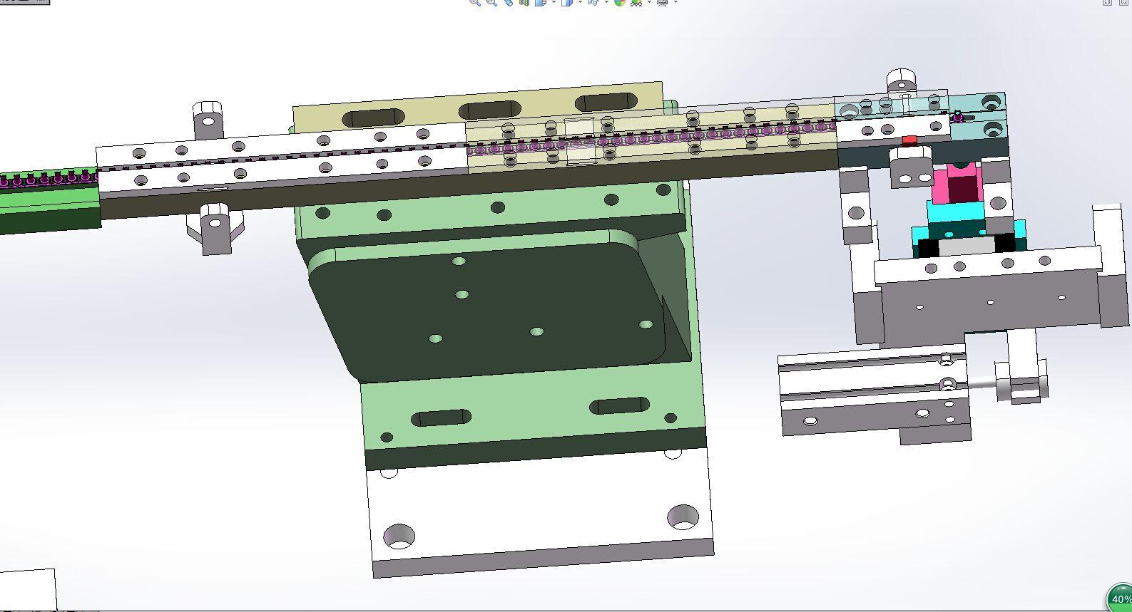 小五金件振动盘供料分料结构3D模型图纸 Solidworks设计