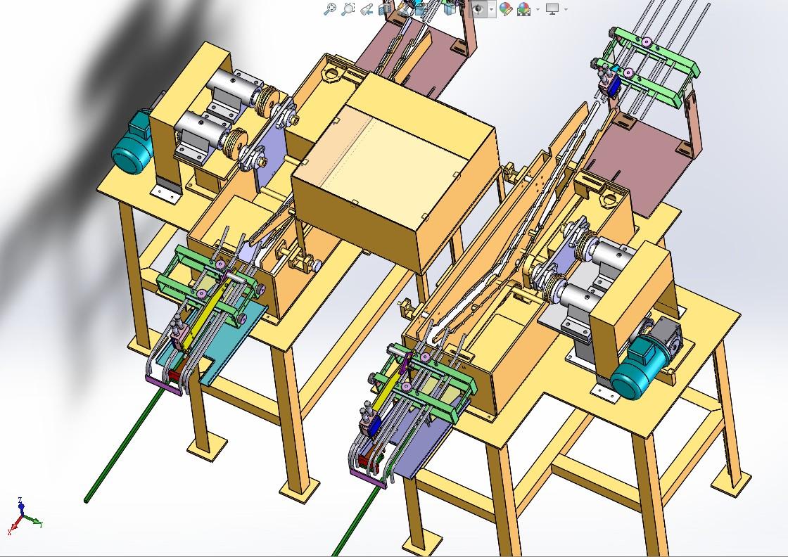 非标自动送料机3D模型图纸 Solidworks设计