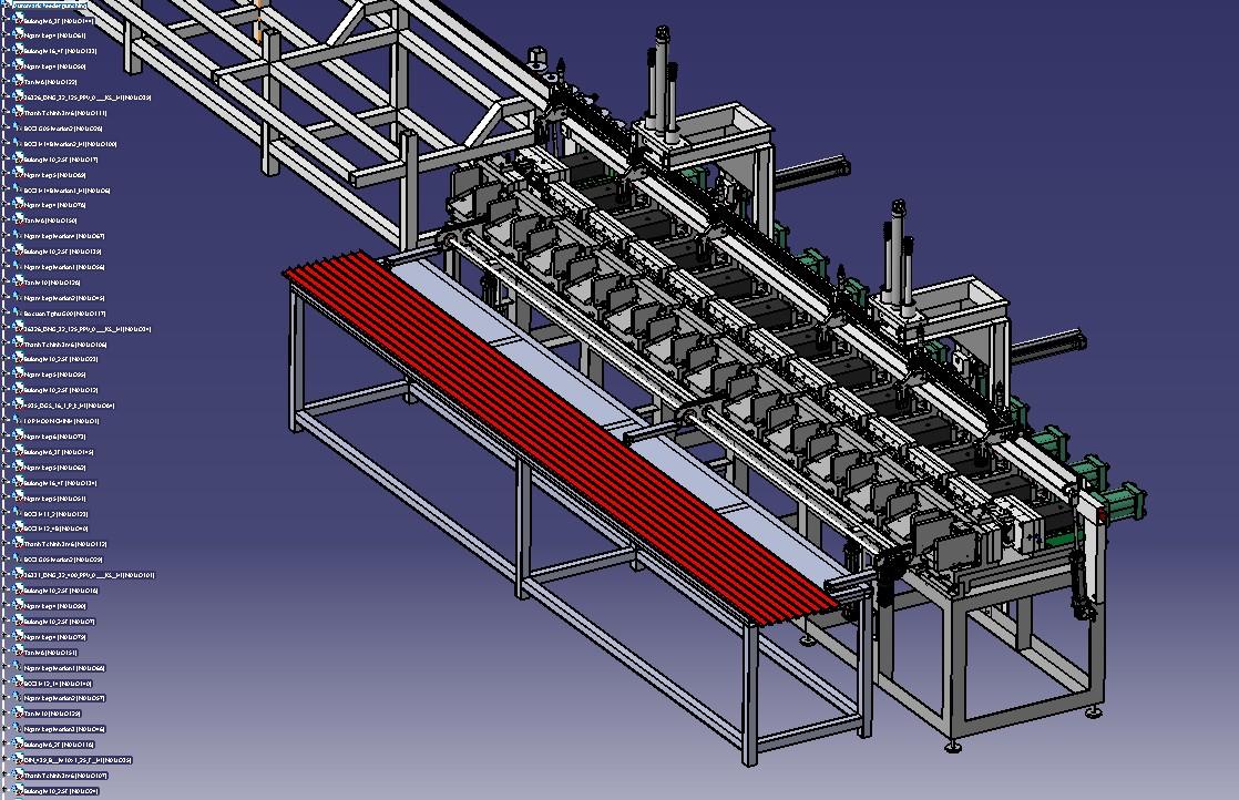 全自动送料冲压生产线3D模型图纸 STEP格式