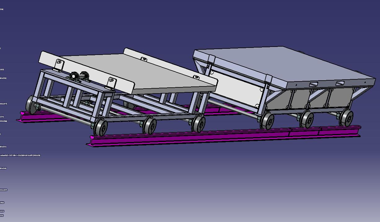 铁轨送料小车3D模型图纸 STEP格式