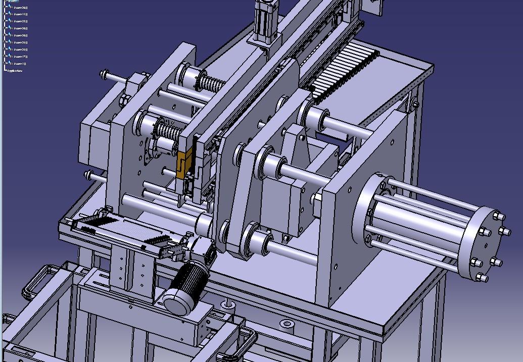 自动送料齿轮加工机3D模型图纸 STP格式