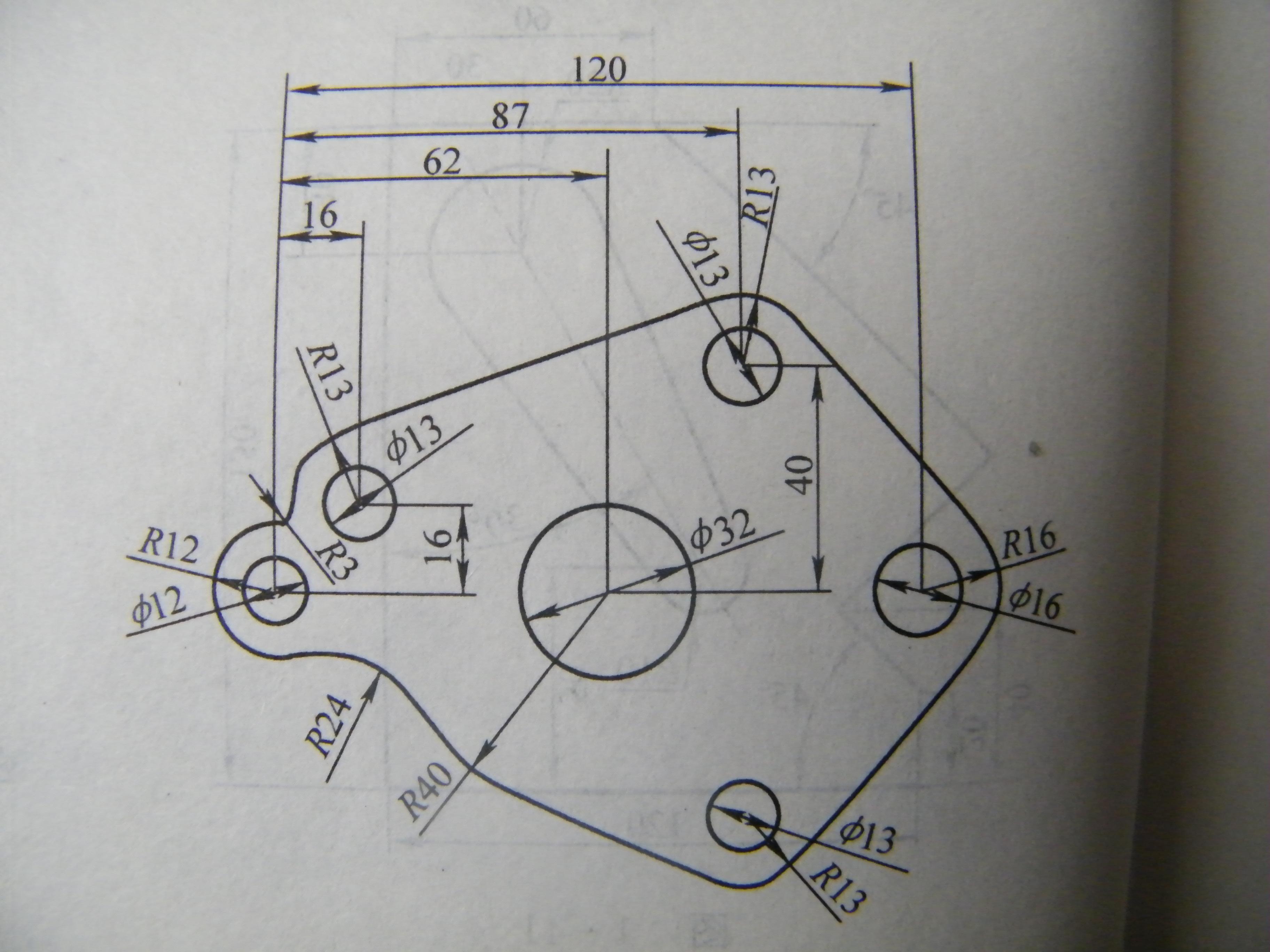 三维(Solidworks UG PROE等)机械制图练习题集 尺寸标注图纸115张
