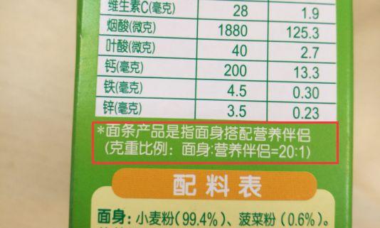 10款婴童面条测评:对于折含铁量有下场,一款钠含量过高!