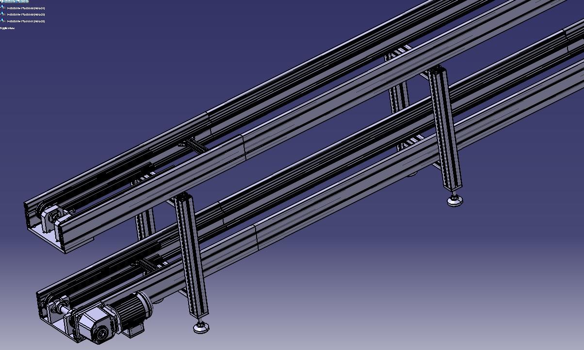 自动流水线,自动上下料送料自动化设备3D模型图纸 STEP格式