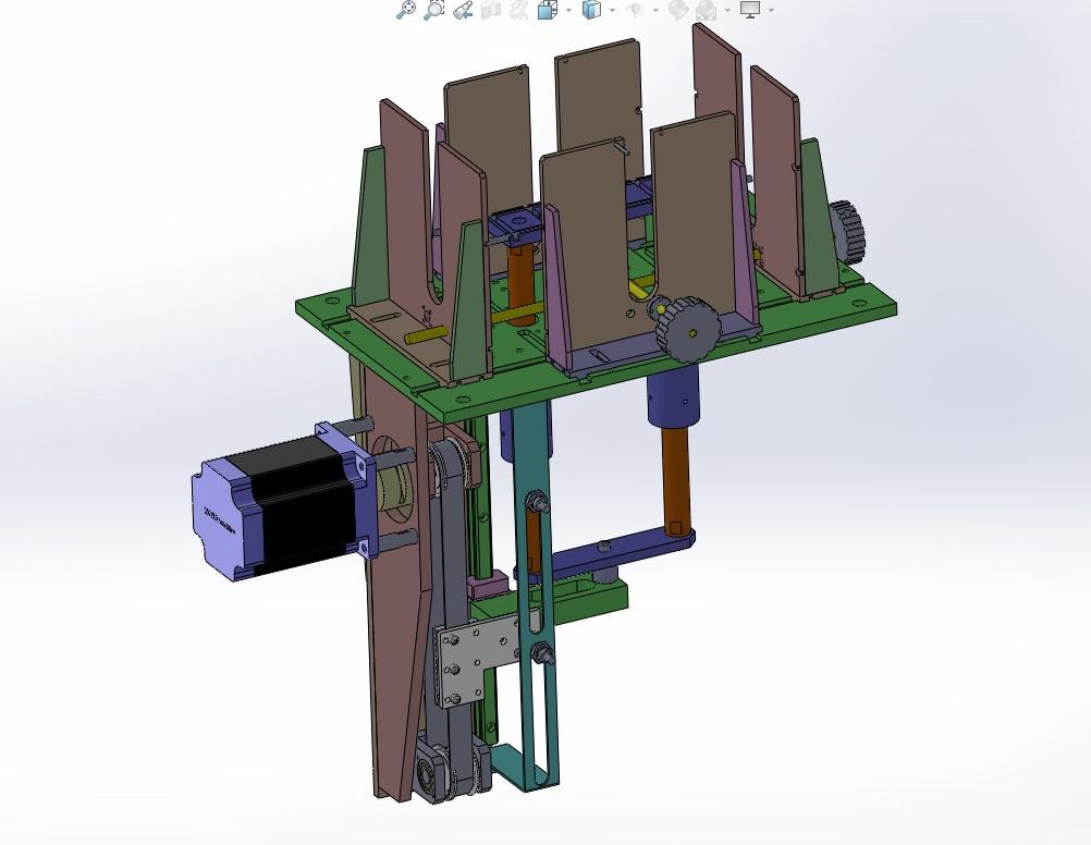 5种款式上料机构、顶升送料机构3D模型图纸 Solidworks设计