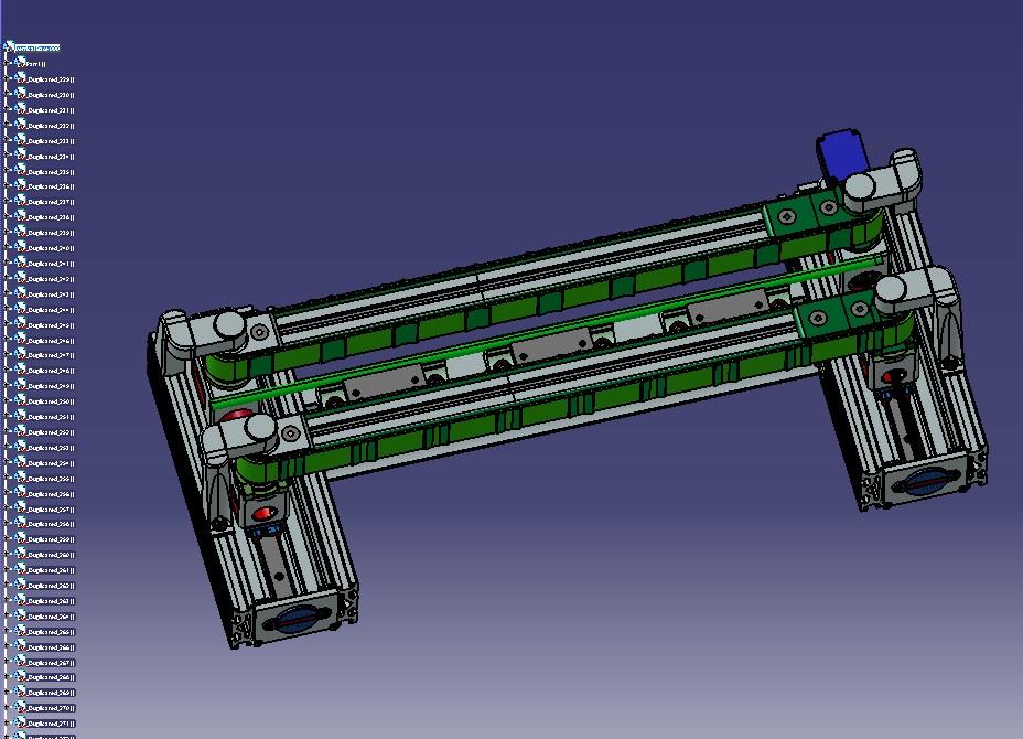 垂直输送机(设备)机构设计模型3D图纸 STP格式