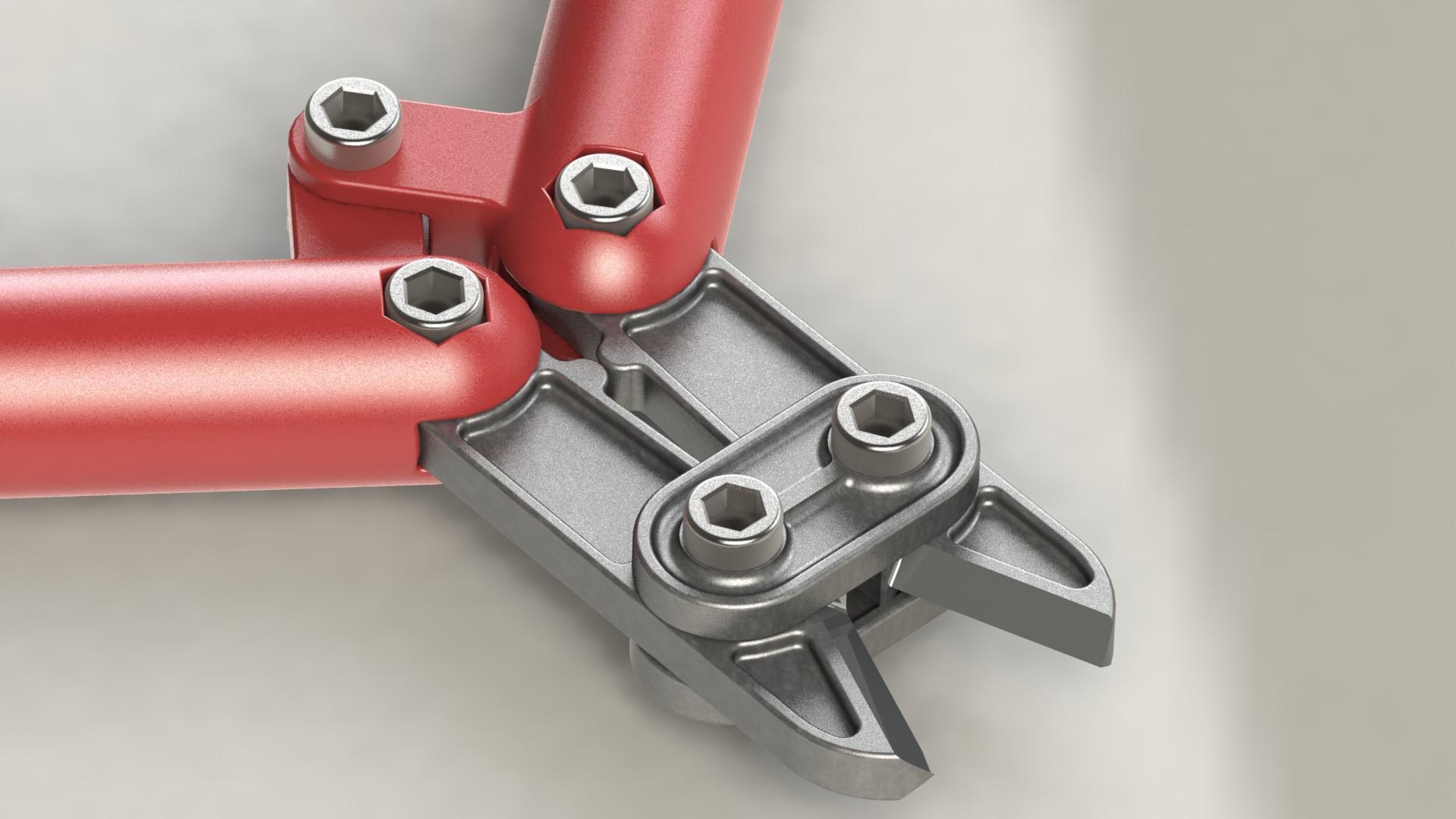 简易断线钳螺栓刀具3D模型图纸 Solidworks设计