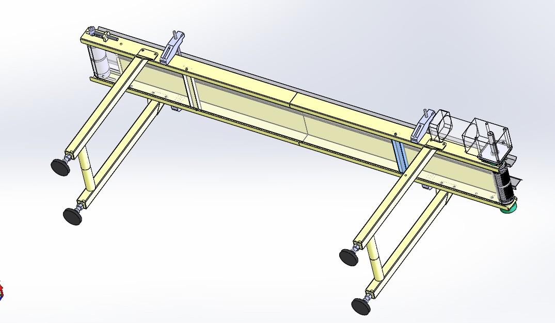 皮带输送机设备3D模型图纸 Solidworks设计