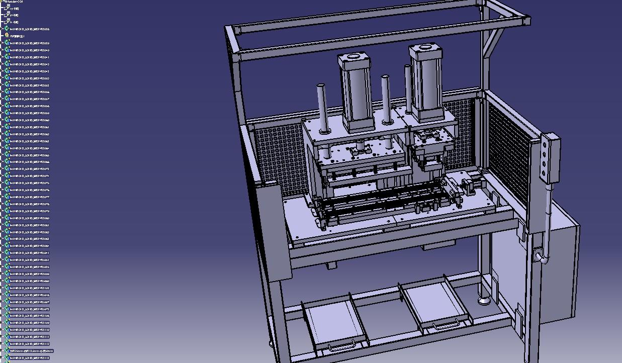 汽车密封条冲切机3D模型图纸 STP格式