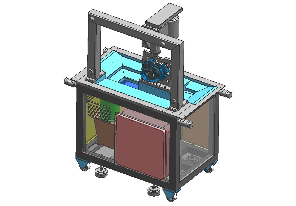 高速变速箱精加工机(3000转、高转速)3D模型图纸 igs格式