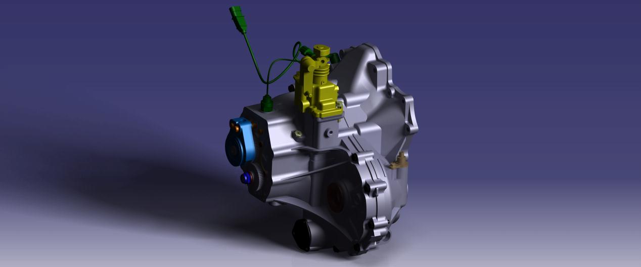 手动变速箱总成3D模型图纸 CATIA设计